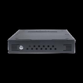 Gabinete de escritorio de seguridad para DVR / NVR, dimensiones máximas: 14.33 x 2.87 x 17.99 in (ancho x alto x profundidad)