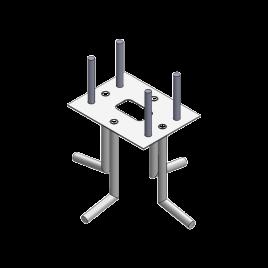 Anclaje de piso compatible con todos los modelos de barrera para vehículos XB