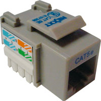Nexxt – Modular insert – RJ-45 – gray – 1 port