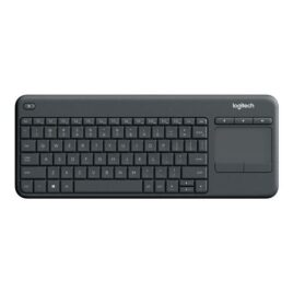 Logitech Wireless Touch Keyboard K400 Plus – Teclado – con panel táctil – inalámbrico – 2.4 GHz