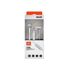 JBL TUNE 290 – Auriculares internos con micro – en oreja – cableado – conector de 3,5 mm – plata