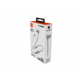 JBL TUNE 110BT – Auriculares internos con micro – en oreja – Bluetooth – inalámbrico – gris