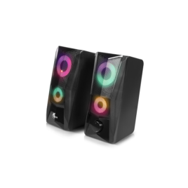 Xtech – Incendo Speakers – 2.0-channel – Negro – Gaming – Led lights – USB powered
