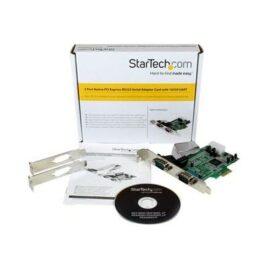 StarTech.com Tarjeta Adaptadora PCI Express PCIe de 2 Puertos Serial RS232 DB9 UART 16550