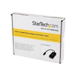 StarTech.com Adaptador Tarjeta de Red NIC Externa USB 3.0 1 Puerto Gigabit Ethernet RJ45 y 1 Puerto