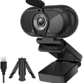 Cámara Web Full HD para Videoconferencia con trípode