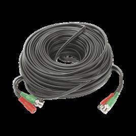 Cable Coaxial armado con conector BNC y Alimentación, longitud de 40m