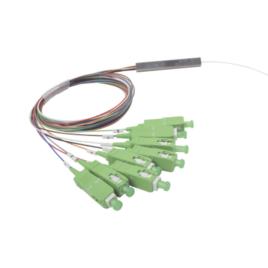 Splitter (Divisor Óptico) tipo PLC, de 1×8, conectores SC/APC de salida