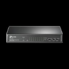 Switch de escritorio de 9 puertos a 10/100 Mbps con PoE de 8 puertos